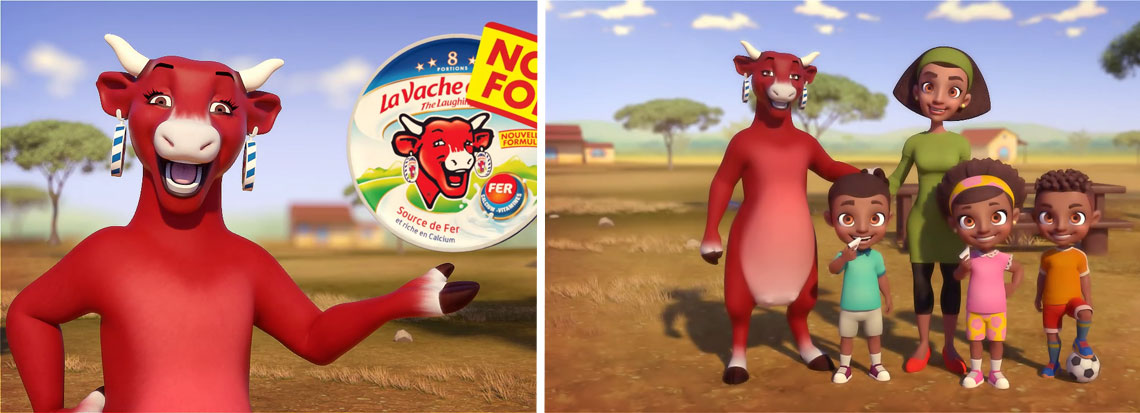 production 3D animation La Vache qui rit Maroc